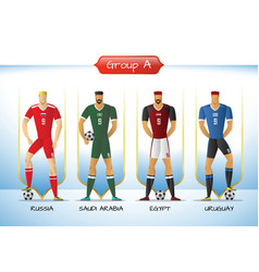 2018 soccer or football team uniform group a vector image