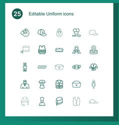 25 uniform icons vector