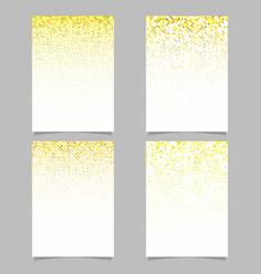 abstract diagonal square mosaic pattern flyer vector image