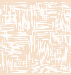 abstract scribbled seamless pattern vector image