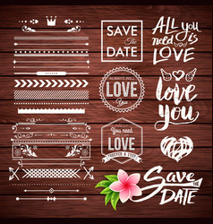 all you need is love and save the date icons vector image