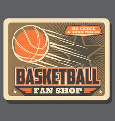 Basketball sport balls fan shop vector