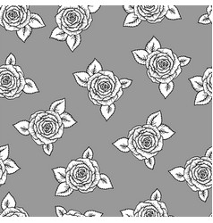 beautiful black and white seamless pattern vector image