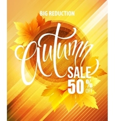 Big fall sale poster design vector image