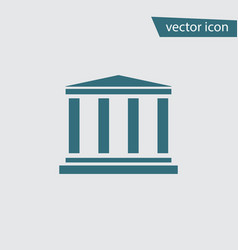 blue bank icon isolated on background modern flat vector image
