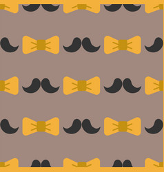 Bow tie background fashion mustache retro hair vector