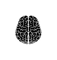 brain icon black on white vector image