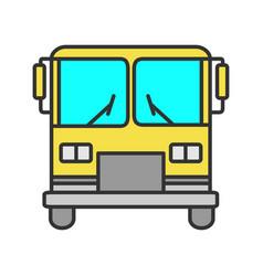 bus color icon vector image