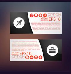 Business web horizontal banners vector