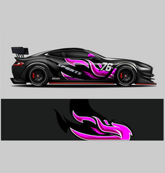 car decal wrap design vector image