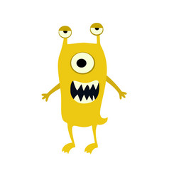 Cartoon flat monsters big icon colorful kid toy vector