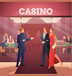 Casino and people ilustration vector
