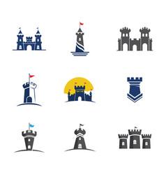 Castle building icon template vector