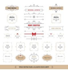 Christmas frames banners big set vector image