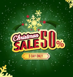 Christmas Sale 50 Percent typographic background vector