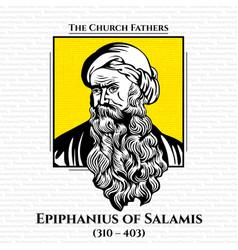 Church fathers epiphanius salamis vector