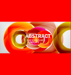 circles abstract background vector image
