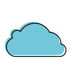 Cloud computing symbol vector