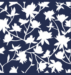 clover flowers seamless pattern white vector image