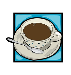 coffee cup and spoon vector image