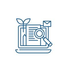 Content marketing line icon concept content vector