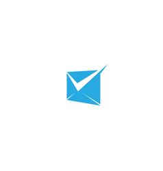 Creative envelope check logo symbol vector