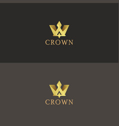 Crown logo design vector