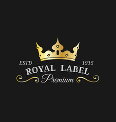 crown logo template luxury corona monogram vector image