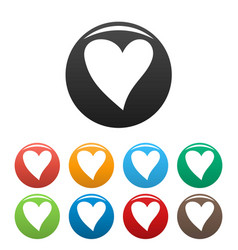 Cruel heart icons set color vector