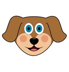 cute dog avatar vector image