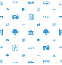 Detail icons pattern seamless white background vector