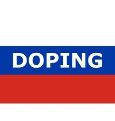 Doping at the Russian athletes vector