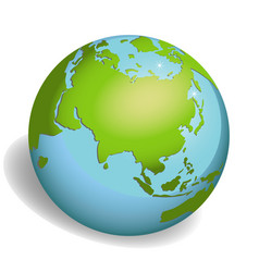 earth globes isolated on white background vector image