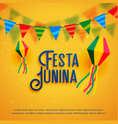 Festa junina holiday background design vector