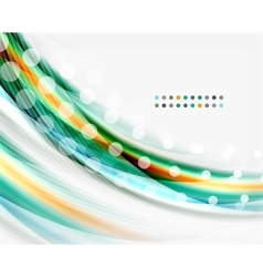 Glossy translucent wave template vector
