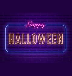 Happy halloween party bright signboard vector