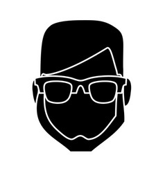 hipster man icon vector image