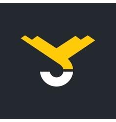 hook of a crane hoist sign monogram the vector image