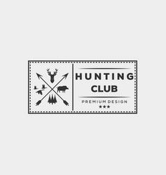 Hunting deer bear duck logo design vector