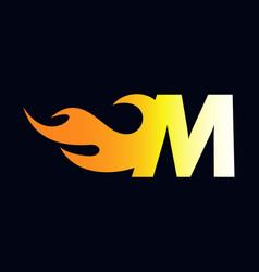 Initial flame m vector