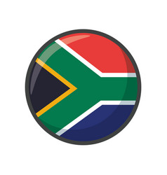 Isolated south africa flag icon block design vector