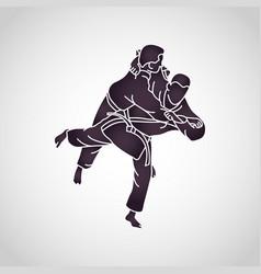 Judo logo icon vector