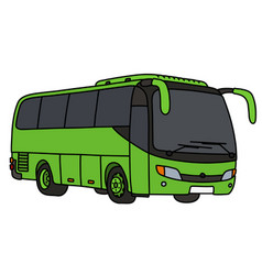 Light green touristic bus vector