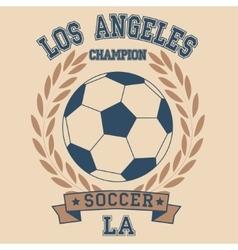 Los angeles soccer vector