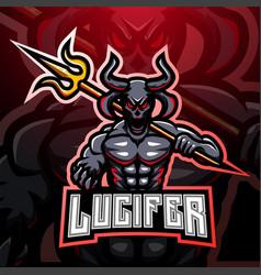 lucifer esport mascot logo vector image