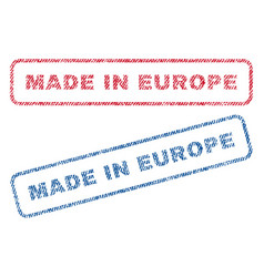 Made in europe textile stamps vector