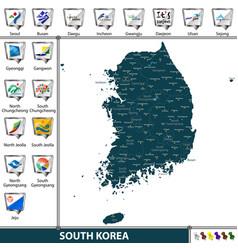 Map south korea vector