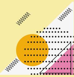 memphis style design vector image