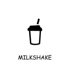 Milkshake flat icon vector