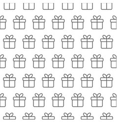 minimal seamless pattern with line gift boxes vector image
